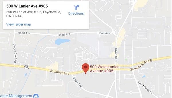 Fayetteville Divorce Attorneys Map